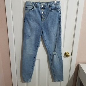 Forever 21 Plus size high waisted jeans